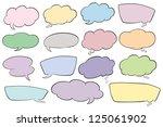 illustration of various shapes... | Shutterstock . vector #125061902