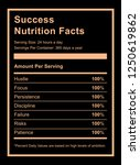 success nutrition facts... | Shutterstock .eps vector #1250619862