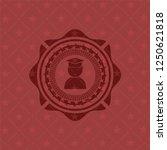 graduation icon inside retro... | Shutterstock .eps vector #1250621818