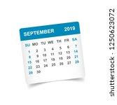 calendar september 2019 year in ... | Shutterstock .eps vector #1250623072