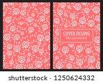blossoms thai decorative art... | Shutterstock .eps vector #1250624332
