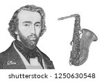 adolphe sax on the banknote of...   Shutterstock . vector #1250630548