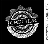 jogger written on a chalkboard | Shutterstock .eps vector #1250631112
