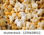 cheese flavour popcorn | Shutterstock . vector #1250638012