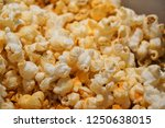 cheese flavour popcorn | Shutterstock . vector #1250638015