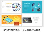 isometric modern chargers... | Shutterstock .eps vector #1250640385