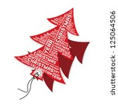 christmas tree tags with words