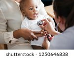 baby visit to the doctor | Shutterstock . vector #1250646838
