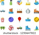 color flat icon set cake flat... | Shutterstock .eps vector #1250647822