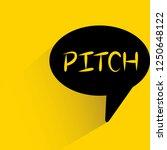 pitch word in speech bubble on...   Shutterstock .eps vector #1250648122