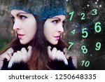 the magic numerology  the woman ... | Shutterstock . vector #1250648335