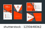 double sided creative business... | Shutterstock .eps vector #1250648362