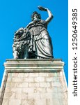 famous statue of bavaria at the ... | Shutterstock . vector #1250649385