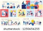 set of vector concept... | Shutterstock .eps vector #1250656255