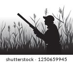 hunting for game birds. hunters ... | Shutterstock .eps vector #1250659945