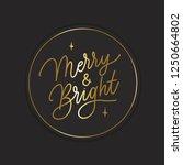 merry   bright     hand... | Shutterstock .eps vector #1250664802