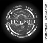 red label grey camo emblem | Shutterstock .eps vector #1250666935