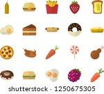 color flat icon set hamburger... | Shutterstock .eps vector #1250675305