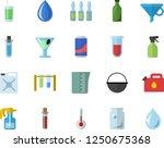 color flat icon set cauldron... | Shutterstock .eps vector #1250675368