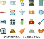 color flat icon set sink flat... | Shutterstock .eps vector #1250675422