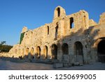 the odeon of herodes atticus at ... | Shutterstock . vector #1250699005