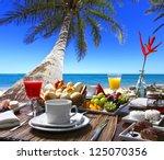 Breakfast Room On The Beach