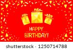 happy birthday  greeting card.  ... | Shutterstock .eps vector #1250714788