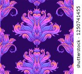floral paisley inspired indian... | Shutterstock .eps vector #1250741455