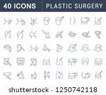set of vector line icons of... | Shutterstock .eps vector #1250742118