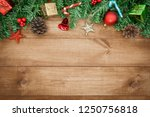 wooden background  christmas... | Shutterstock . vector #1250756818