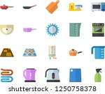 color flat icon set sink flat... | Shutterstock .eps vector #1250758378