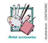 highly detailed artists icons... | Shutterstock .eps vector #1250760382