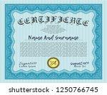 light blue classic certificate...   Shutterstock .eps vector #1250766745