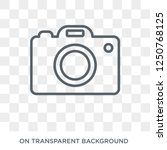 Camera icon. Camera design concept from Electronic devices collection. Simple element vector illustration on transparent background. - stock vector