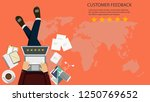 rating on customer service... | Shutterstock .eps vector #1250769652