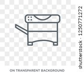 copy machine icon. trendy flat... | Shutterstock .eps vector #1250771272