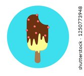 sundae with icing and... | Shutterstock .eps vector #1250773948