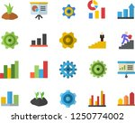 color flat icon set cogwheel... | Shutterstock .eps vector #1250774002