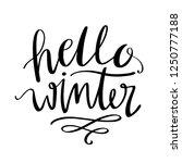 hello winter lettering... | Shutterstock .eps vector #1250777188