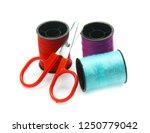 colorful yarn on spool  yarn on ...   Shutterstock . vector #1250779042