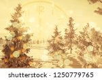 winter background of snow and... | Shutterstock . vector #1250779765