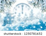 winter background of frost fir... | Shutterstock . vector #1250781652