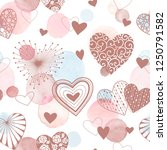 cute vector hearts seamless... | Shutterstock .eps vector #1250791582