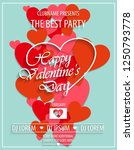 valentines day red party flyer... | Shutterstock .eps vector #1250793778