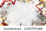 christmas silver and red gifts... | Shutterstock . vector #1250795188
