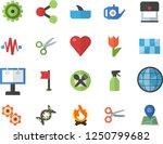 color flat icon set tile flat... | Shutterstock .eps vector #1250799682