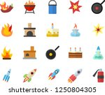 color flat icon set hiking pot... | Shutterstock .eps vector #1250804305