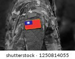 flag of taiwan on soldiers arm. ... | Shutterstock . vector #1250814055