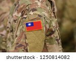flag of taiwan on soldiers arm. ... | Shutterstock . vector #1250814082