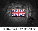 flag of united kingdom on... | Shutterstock . vector #1250814085